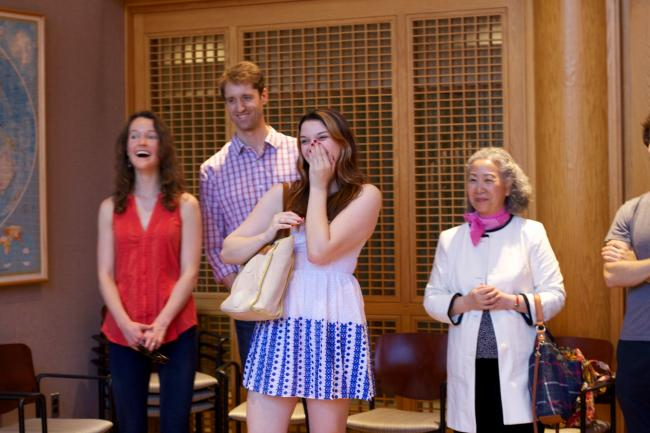 Colleagues at Professor Yu's retirement reception.