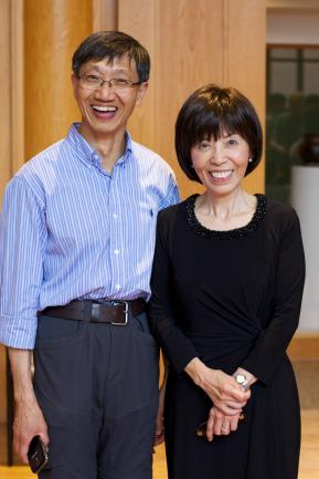 Professor Yu with a colleague.