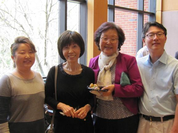 Professor Yu with colleagues.