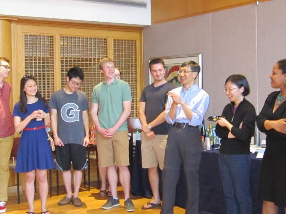 Students and colleagues at Professor Yu's retirement reception
